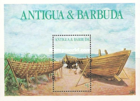 [Local Boats - Issue of 1986 of Antigua & Barbuda Overprinted