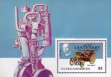 [The 100th Anniversary of First Benz Motor Car - Issue of 1986 of Antigua & Barbuda Overprinted