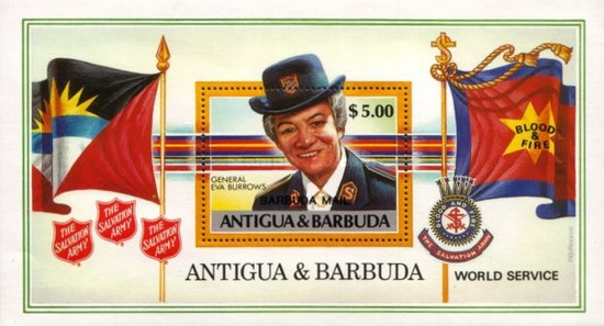 [Salvation Army's Community Service - Issue of 1988 of Antigua & Barbuda Overprinted