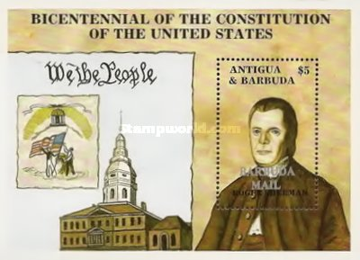 [The 200th Anniversary of U.S. Constitution - Issue of 1987 of Antigua & Barbuda Overprinted