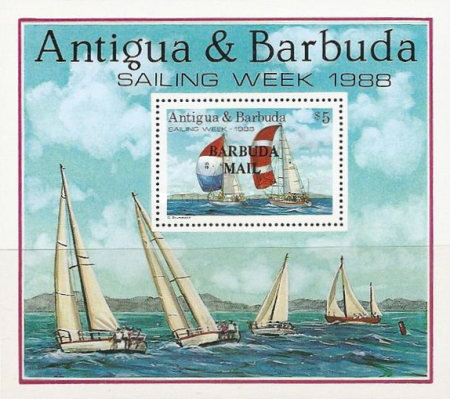 [Sailing Week - Issue of 1988 of Antigua & Barbuda Overprinted