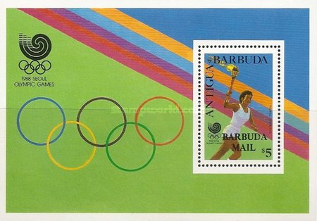 [Olympic Games - Seoul, South Korea - Issue of 1988 of Antigua & Barbuda Overprinted