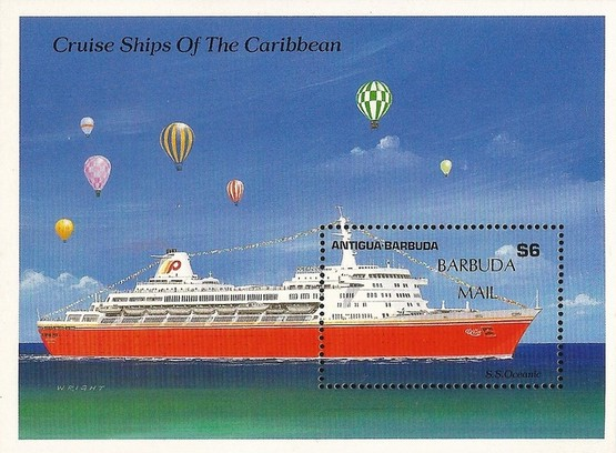 [Caribbean Cruise Ships - Issue of 1989 of Antigua & Barbuda Overprinted