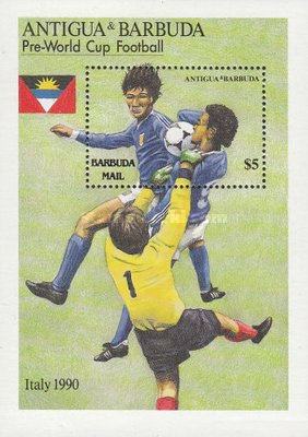 [Football World Cup - Italy 1990 - Issue of 1989 of Antigua & Barbuda Overprinted
