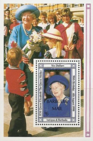 [The 100th Anniversary of the Birth of Queen Elizabeth the Queen Mother, 1900-2002 - Issue of 1990 of Antigua & Barbuda Overprinted