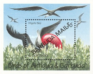 [Birds - Issue of 1990 of Antigua & Barbuda Overprinted