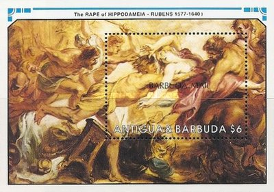 [The 350th Anniversary of the Death of Peter Paul Rubens, Artist, 1577-1640 - Issue of 1991 of Antigua & Barbuda Overprinted