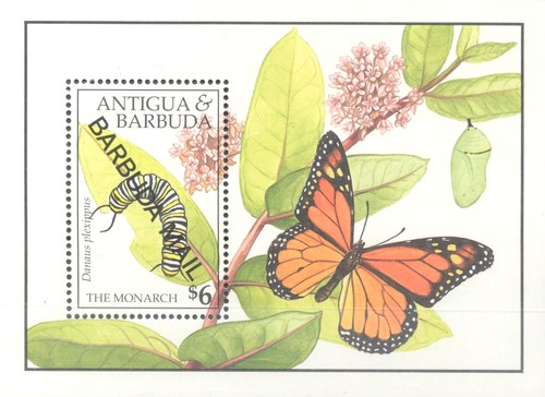 [Butterflies - Issue of 1991 of Antigua & Barbuda Overprinted