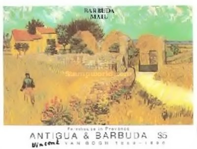 [The 100th Anniversary of the Death of Vincent van Gogh, Artist, 1853-1890 - Issue of 1991 of Antigua & Barbuda Overprinted