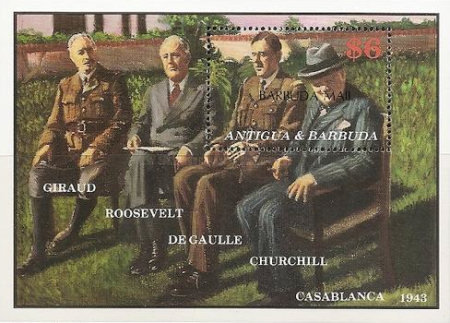 [The 100th Anniversary of the Birth of Charles de Gaulle, French Statesman, 1890-1970 - Issue of 1991 of Antigua & Barbuda Overprinted