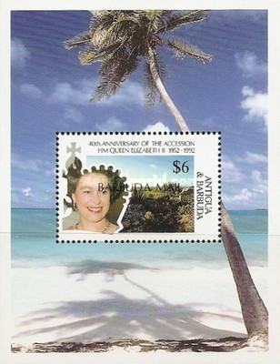 [The 40th Anniversary of the Acession of Queen Elizabeth II - Issue of 1992 of Antigua & Barbuda Overprinted
