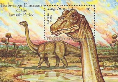[Prehistoric Animals - Issue of 1992 of Antigua & Barbuda Overprinted