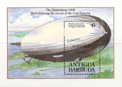 [The 75th Anniversary of the Death of Count Ferdinand von Zeppelin, 1838-1917 - Issue of 1992 of Antigua & Barbuda Overprinted