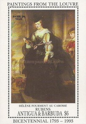 [The 200th Anniversary of the Louvre, Paris - Paintings by Peter Paul Rubens - Issue of 1993 of Antigua & Barbuda Overprinted