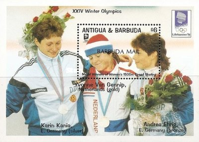 [Winter Olympic Games '94 - Lillehammer, Norway - Issue of 1993 of Antigua & Barbuda Overprinted