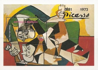 [The 20th Anniversary of the Death of Pablo Picasso, Artist, 1881-1973 - Issue of 1993 of Antigua & Barbuda Overprinted