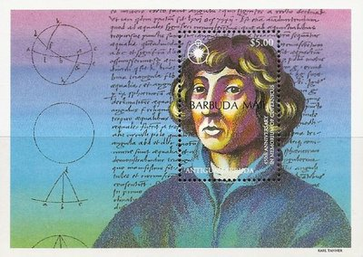[The 450th Anniversary of the Death of Copernicus, Astronomer, 1473-1543 - Issue of 1993 of Antigua & Barbuda Overprinted