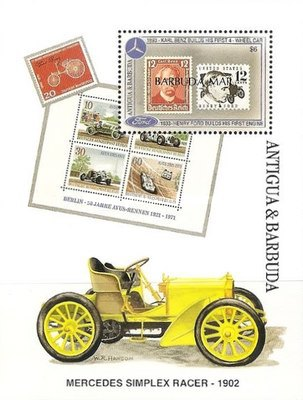 [The 100th Anniversary of Henry Ford's First Petrol Engine and the 100th Anniversary of Karl Benz's First Four-wheeled Car - Issue of 1993 of Antigua & Barbuda Overprinted
