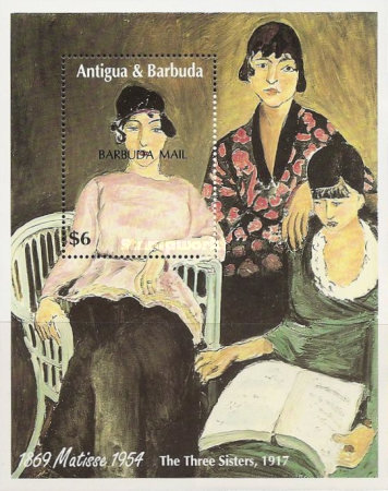 [The 40th Anniversary of the Death of Henry Matisse, 1869-1954 - Issue of 1993 of Antigua & Barbuda Overprinted
