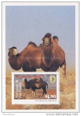 [The 100th Anniversary of Sierra Club, Environmental Protection Society - Endangered Species - Issue of 1994 of Antigua & Barbuda Overprinted