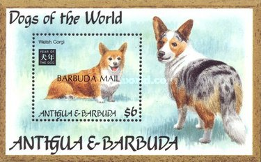 [Dogs of the World - Chinese New Year, Year of the Dog - Issues of 1994 of Antigua & Barbuda Overprinted