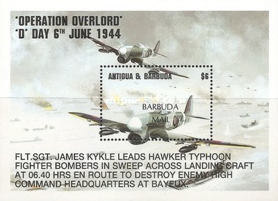 [The 50th Anniversary of D-Day - Issue of 1994 of Antigua & Barbuda Overprinted