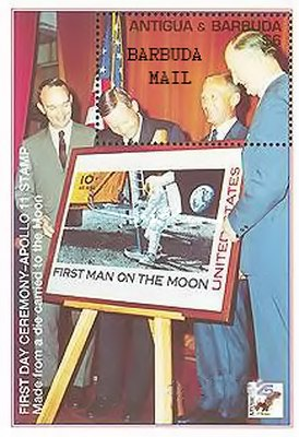 [The 25th Anniversary of the First Manned Moon Landing - Issues of 1994 of Antigua & Barbuda Overprinted