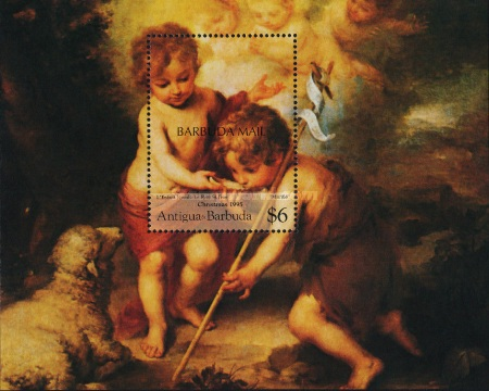 [Christmas - Religious Paintings - Issue of 1995 of Antigua & Barbuda Overprinted