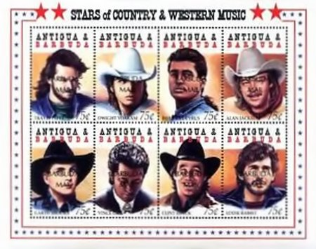 [Stars of Country and Western Music - Issues of 1994 of Antigua & Barbuda Overprinted