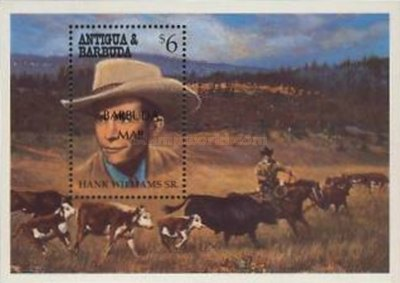 [Stars of Country and Western Music - Issue of 1994 of Antigua & Barbuda Overprinted