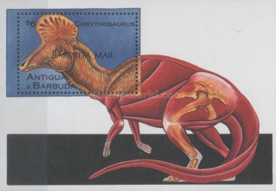 [Prehistoric Animals - Issue of 1995 of Antigua & Barbuda Overprinted