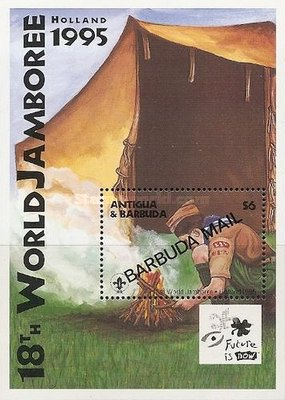 [The 18th World Scout Jamboree, Netherlands - Tents - Issue of 1995 of Antigua & Barbuda Overprinted