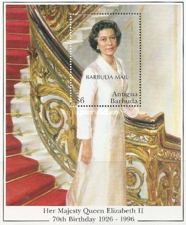 [The 70th Anniversary of the Birth of Queen Elizabeth II - Issue of 1996 of Antigua & Barbuda Overprinted