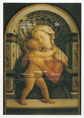 [Christmas - Paintings by Fra Filippo Lippi - Issue of 1996 of Antigua & Barbuda Overprinted