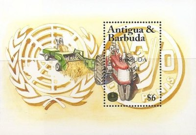 [The 50th Anniversary of F.A.O. - Issue of 1995 of Antigua & Barbuda Overprinted