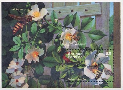 [Bees - Issue of 1995 of Antigua & Barbuda Overprinted