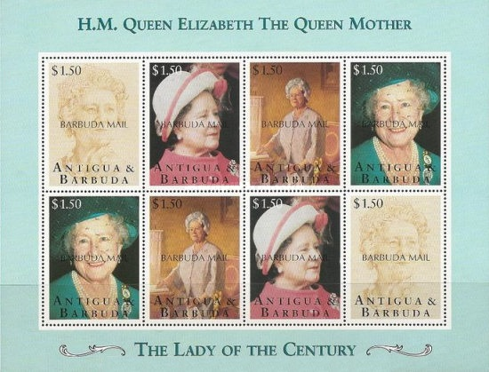 [The 95th Anniversary of the Birth of Queen Elizabeth the Queen Mother, 1900-2002 - Issues of 1995 of Antigua & Barbuda Overprinted