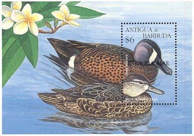 [Birds - Issue of 1995 of Antigua & Barbuda Overprinted