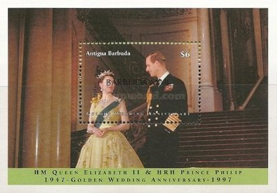 [The 50th Anniversary of the Wedding of Queen Elizabeth and Prince Philip - Issue of 1997 of Antigua & Barbuda Overprinted