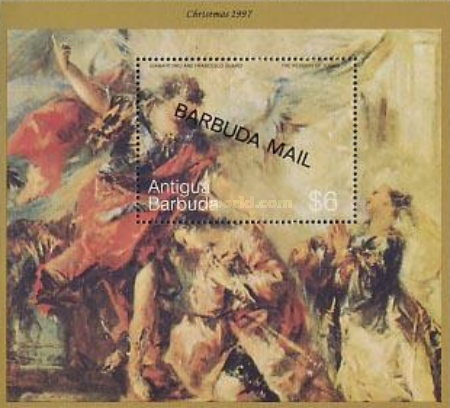 [Christmas - Religious Paintings - Issue of 1997 of Antigua & Barbuda Overprinted