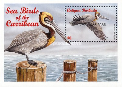 "[Sea Birds of the Caribbean - Issue of 1996 of Antigua & Barbuda Overprinted ""BARBUDA MAIL"", type ]"