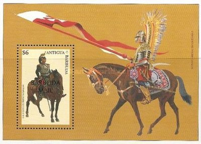[Cavalry through the Ages - Issue of 1996 of Antigua & Barbuda Overprinted
