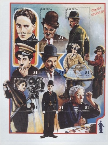 [The 20th Anniversary of the Death of Charlie Chaplin, Film Star, 1889-1977 - Issues of 1997 of Antigua & Barbuda Overprinted