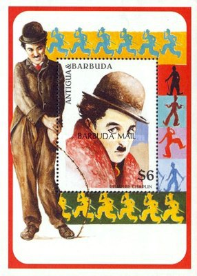[The 20th Anniversary of the Death of Charlie Chaplin, Film Star, 1889-1977 - Issue of 1997 of Antigua & Barbuda Overprinted
