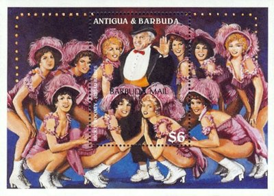 [Broadway Musical Stars - Issue of 1997 of Antigua & Barbuda Overprinted