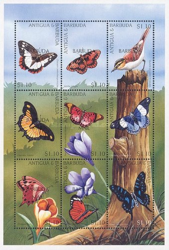 [Butterflies - Issues of 1997 of Antigua & Barbuda Overprinted