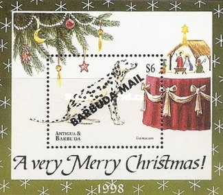 [Christmas - Dogs - Issue of 1998 of Antigua & Barbuda Overprinted