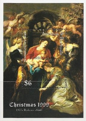 [Christmas - Religious Paintings - Issue of 1999 of Antigua & Barbuda Overprinted