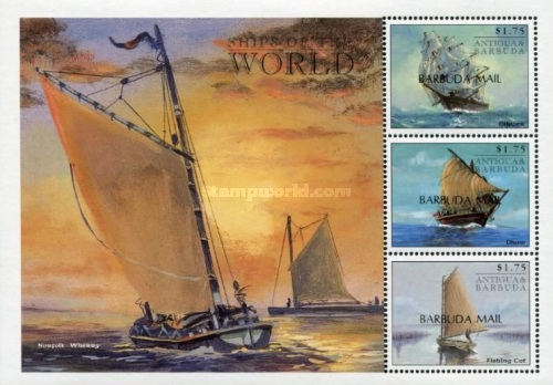 [Ships of the World - Issues of 1998 of Antigua & Barbuda Overprinted