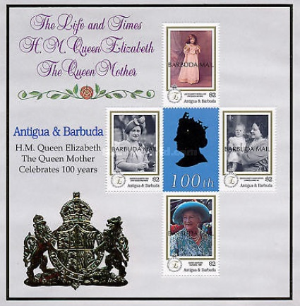[The 100th Anniversary of the Birth of Queen Elizabeth the Queen Mother, 1900-2002 - Issues of 2000 of Antigua & Barbuda Overprinted